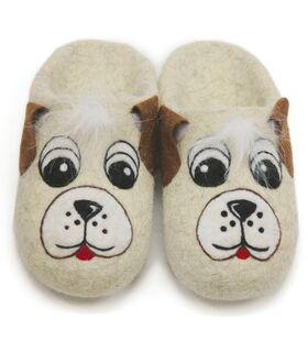 "Home slippers ""Dog"" - ""Glazovskie valenki"" - Shoes buy wholesale from manufacturer and supplier on UDM.MARKET"