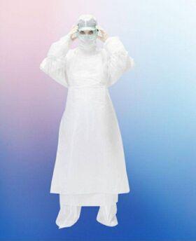 Набор врача инфекциониста в составе: Куртка, Брюки, Шапка-Шлем, материал спанбонд ламинированный, плотность 42 гр/м2 - HOTHELP - Средства индивидуальной защиты купить оптом от производителя на UDM.MARKET