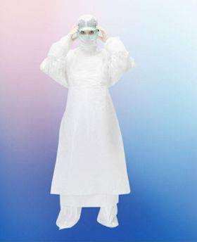 A set of an infectious disease doctor consisting of: Jacket, Trousers, Hat-Helmet, SMS material, density 50 g / m2 - HOTHELP - Personal protective equipment buy wholesale from manufacturer and supplier on UDM.MARKET