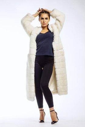 """Coat Eco fur """"Mink"""" Long - Green Fur - Apparel, Textiles, Fashion Accessories & Jewelry buy wholesale from manufacturer and supplier on UDM.MARKET"""