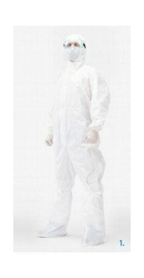 Комбинезон одноразовый нестерильный, материал Дышащая мембрана, плотность 55 гр/м2, без герметизации швов, Размер 40-70 - HOTHELP - Средства индивидуальной защиты купить оптом от производителя на UDM.MARKET